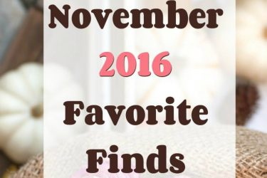 November 2016 Favorite Finds (Home Edition)