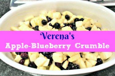 Verena's Apple-Blueberry Crumble