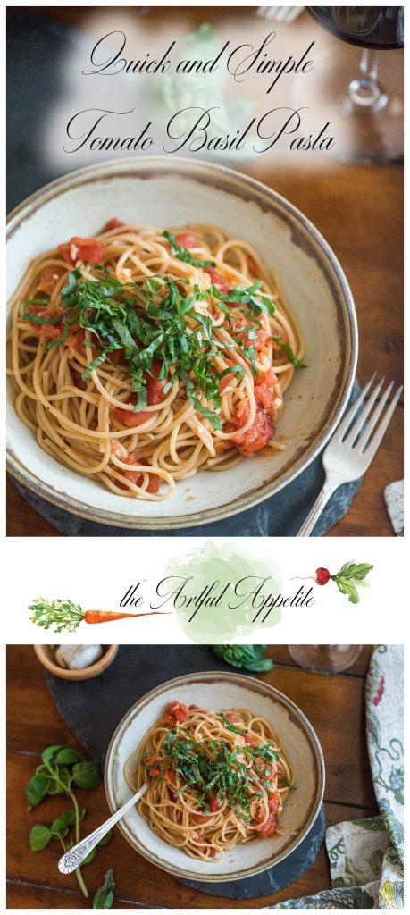 Quick Tomato Basil Pasta