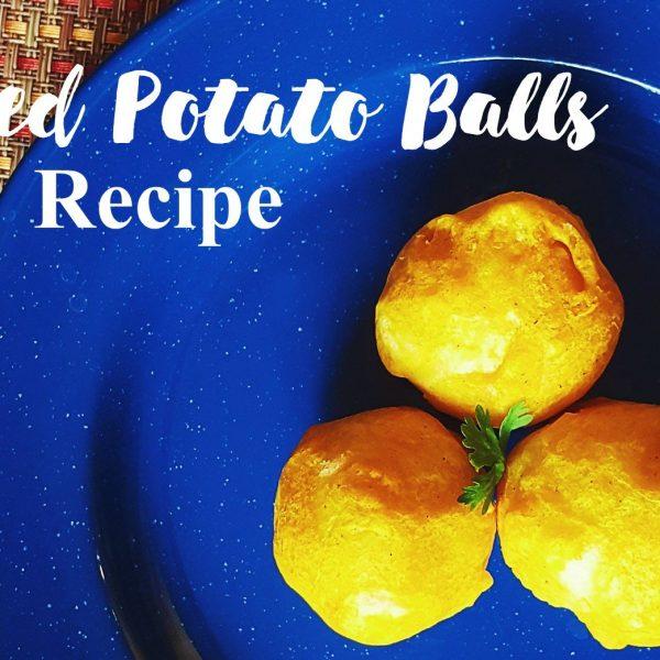 fried potato balls recipe