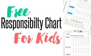 responsibility charts for kids