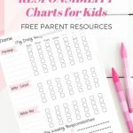 responsibility chart for kids - life with kami