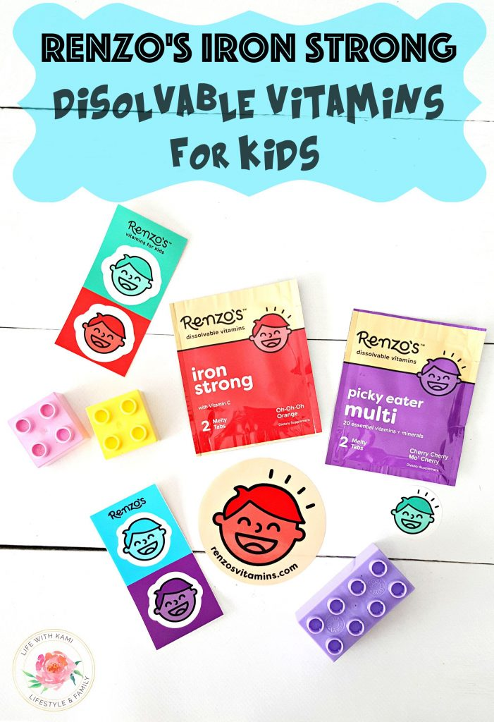 Renzo's Iron Strong dissolvable vitamins for kids