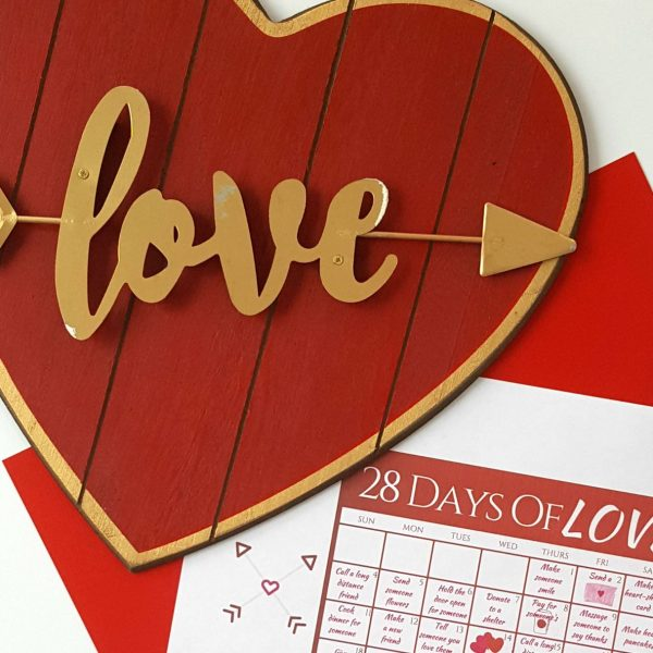 28 days of love calendar feature