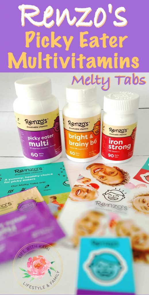 Renzo's multivitamins, daily multivitamins for kids, vitamin bottles, dissolvable vitamins