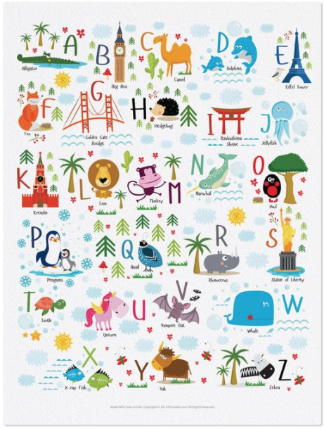 ABCs - Animal & Landmarks Alphabet