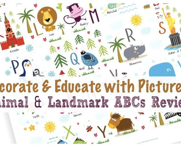 Decorate & Educate with Pictureta (Animal & Landmark ABCs Review)