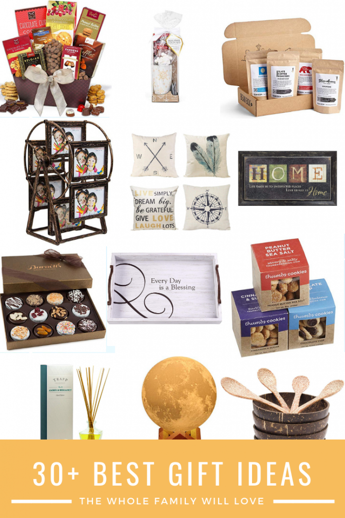 Gifts for the whole family, chocolates, frames, wine, subscription boxes.