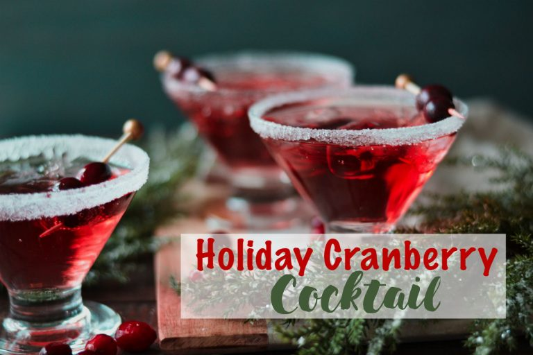 Holiday Cranberry Cocktail