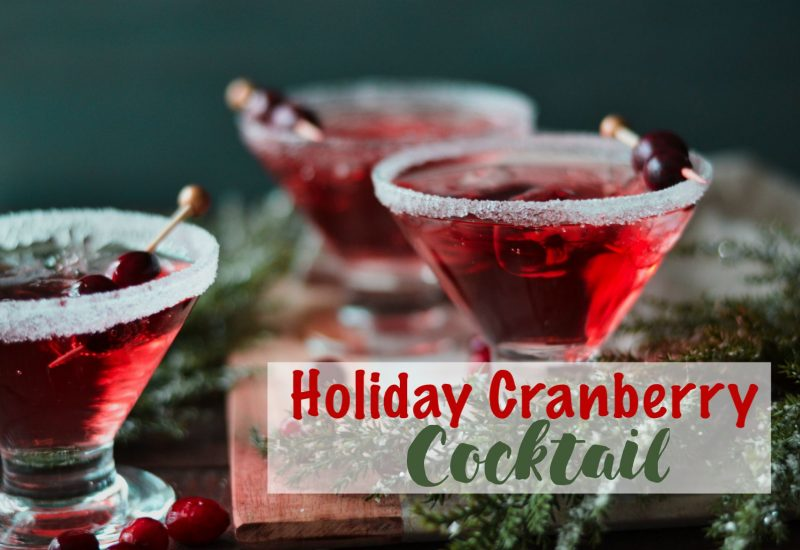 Holiday Cranberry Cocktail drink, cranberries