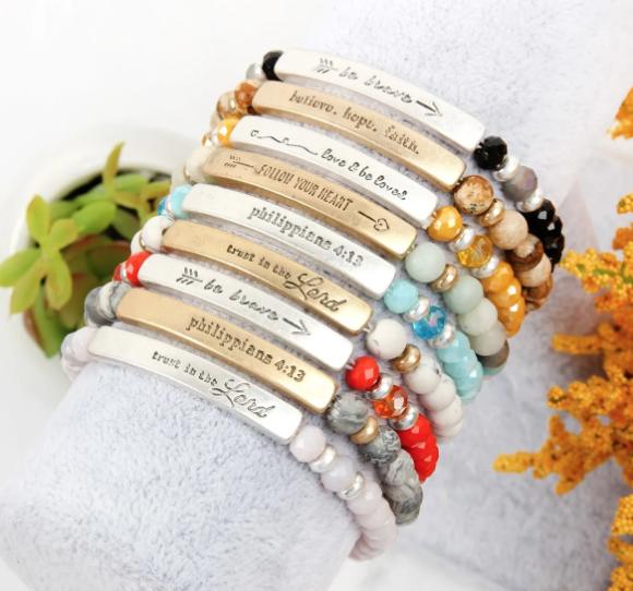 Religious message bracelets