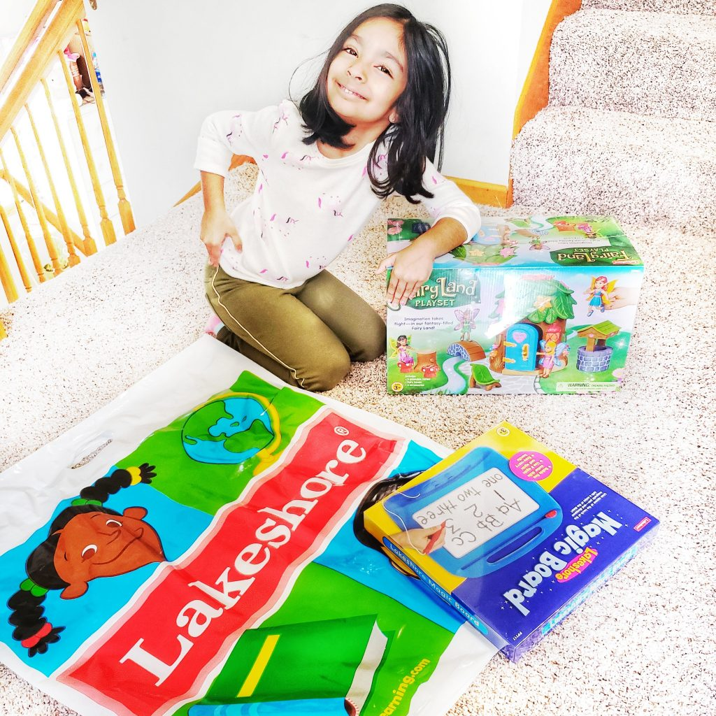 Nariyah with Lakeshore Learning toys