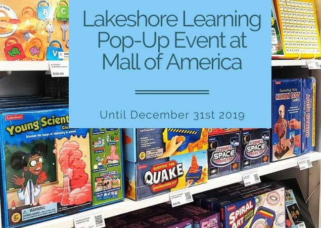 Lakeshore Learning Pop-Up Event at Mall of America Until December 31st feature