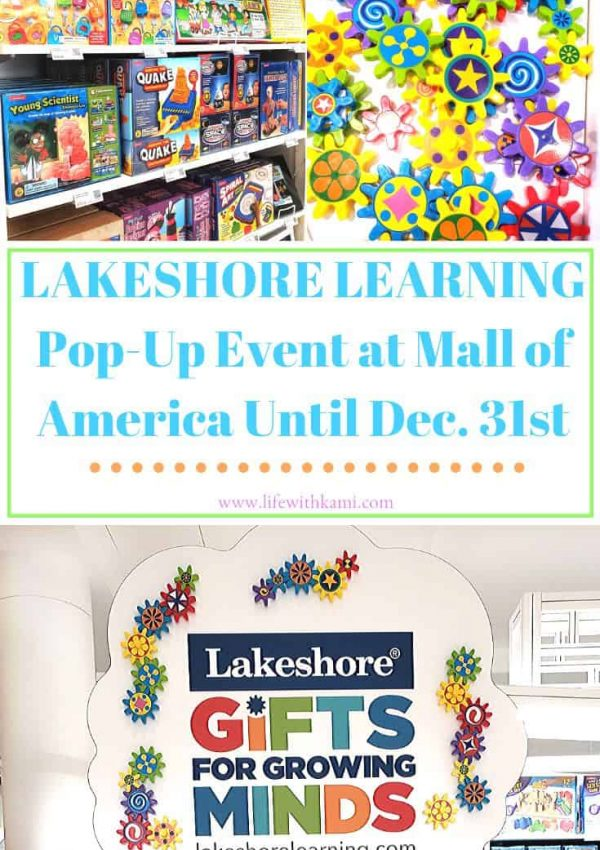 Lakeshore Learning Pop-Up at Mall of America Until December 31st