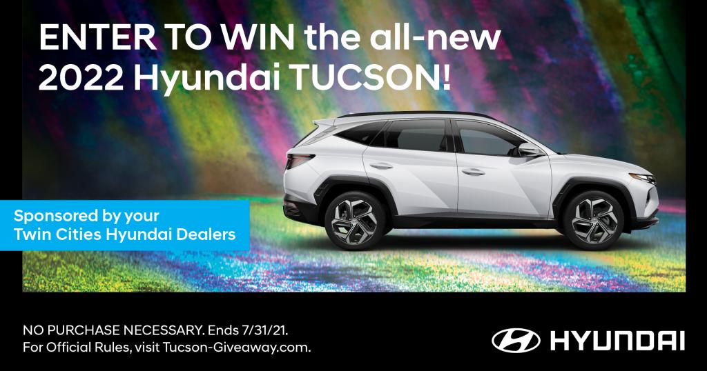 Enter to win the all-new 2022 Hyundai Tucson